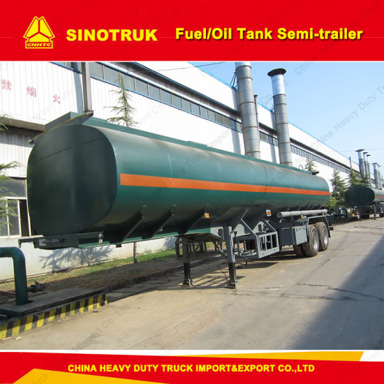 Sinotruk 2 Axle 50 Tons Fuel/Oil Tank Semi-Trailer pictures & photos