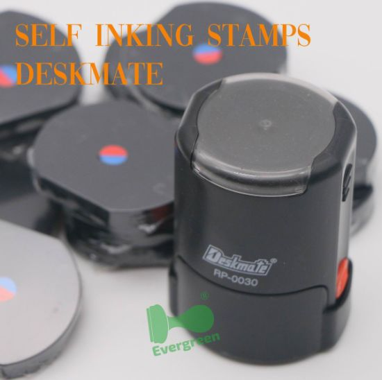 Deskmate Self Inking Rubber Stamps with Best Quality Noris Ink
