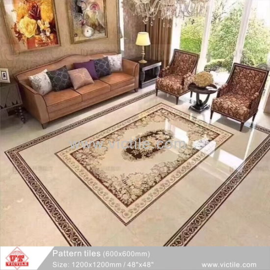 Building Material Flooring King Line Carpet Floor Tile Va12p6084 1200x1200mm