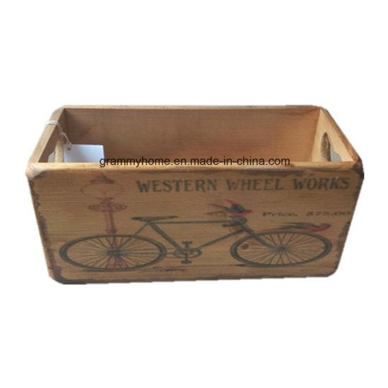 Vintage Retro Wooden Storage Crates Old Bike Design  sc 1 st  Qingdao Grammy Home Interior u0026 Gift Co. Ltd. & China Vintage Retro Wooden Storage Crates Old Bike Design - China ...