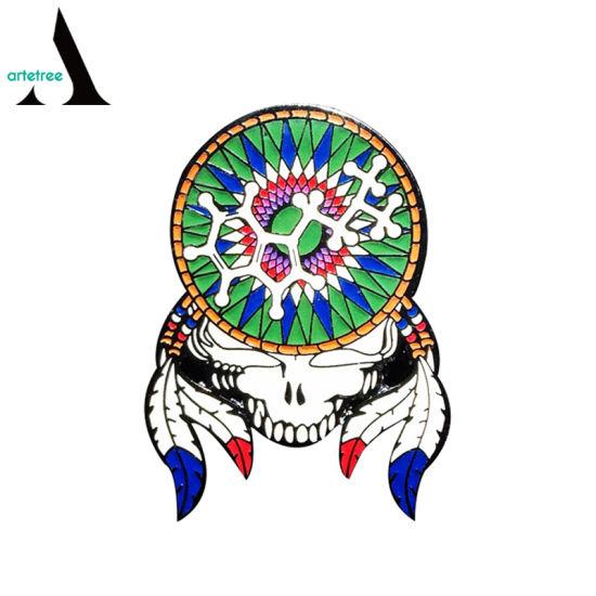 Grateful Dead Bear Lion Custom Metal Pin Badge