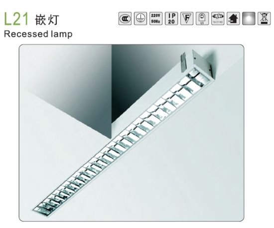 Recessed Fluorescent Lighting with T5 T8 LED Tube pictures & photos