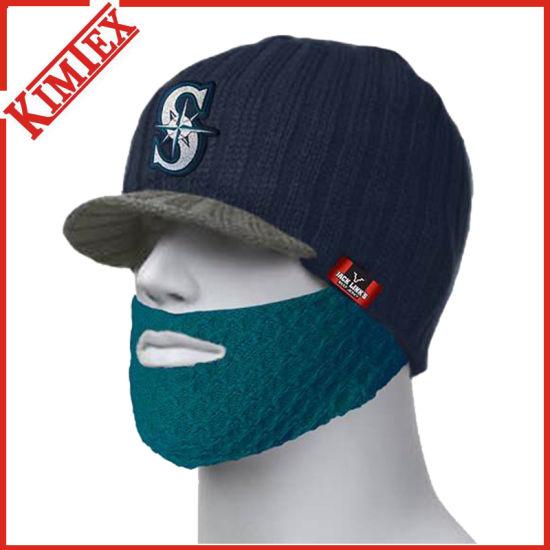 China Promotional Acrylic Knitted Peak Beard Beanie Hat - China ... 67827ec6a6e9