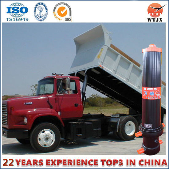 china dump truck hydraulic cylinder with outer cover china fc