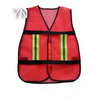 Customizable Hot Design Orange Mesh Traffic Safety Vest