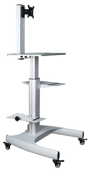 COMPUTER STAND TROLLEY MOBILE AND ADJUSTABLE WITH FREE DELIVERY