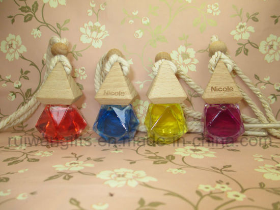 8ml Diamond Empty Glass Perfume Bottle, Fragrance Car Glass Bottle