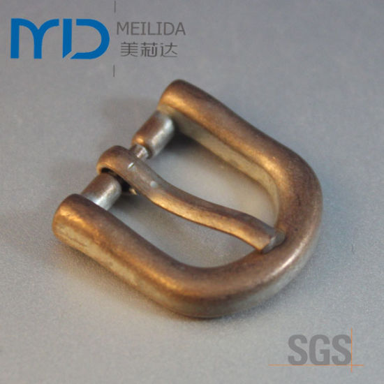 Small D Pin Buckles with Antique Gold Plating Color for Shoes, Belts, and Bags (20mmx20mm)