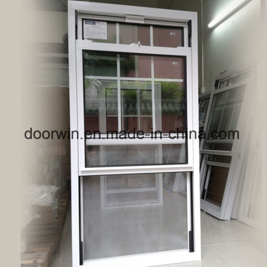 Durable Double Hung Aluminum Window, Customized Size Aluminum Clading Solid Wood Double Hung Window