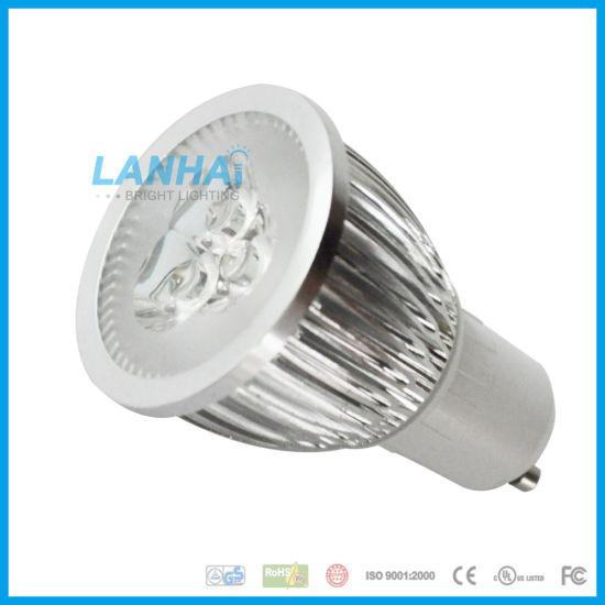 High Power Lathe Aluminum 6W GU10 LED Spotlight