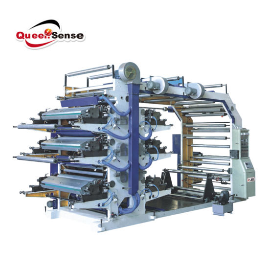 Six Colour Flexographic Stack Printing Machine