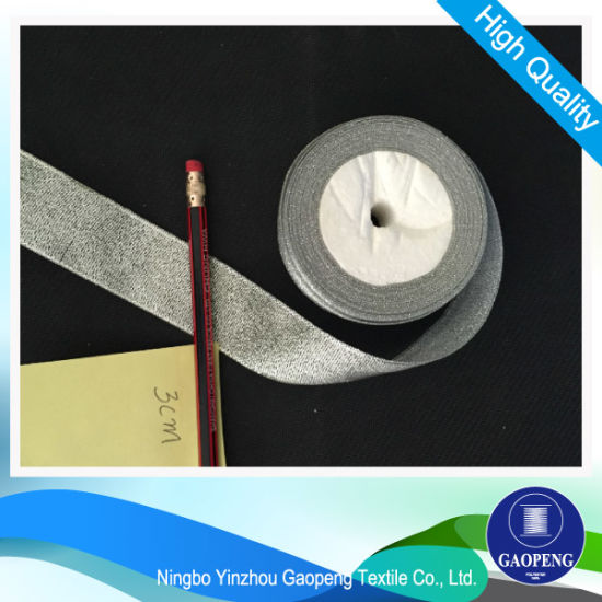 Metallic Sliver Ribbon for Clothing/Garment/Shoes/Bag/Case pictures & photos
