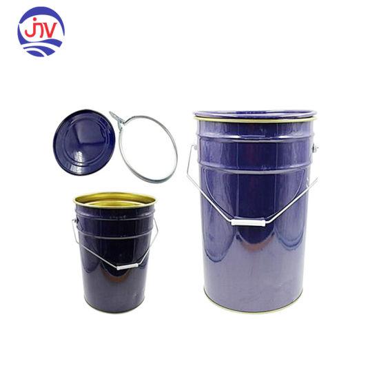 Wholesale 6 Gallon Blue Empty Steel Tin Pail, Un Rated
