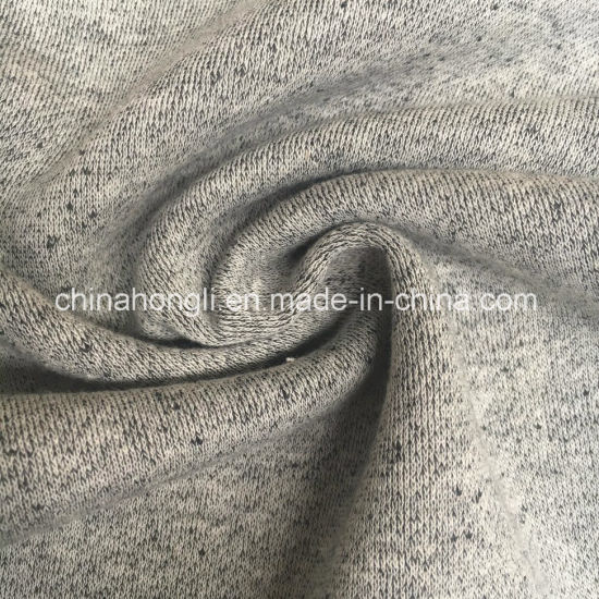 Melange French Terry Cotton/Polyester 60/40, 260GSM Brushed Fleece Fabric for Sweater