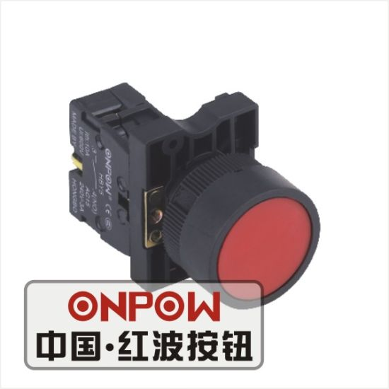 Onpow 22mm Pushbutton Switch (Economical Type) (HBY5E-11/R, CE, CCC, CB, RoHS)