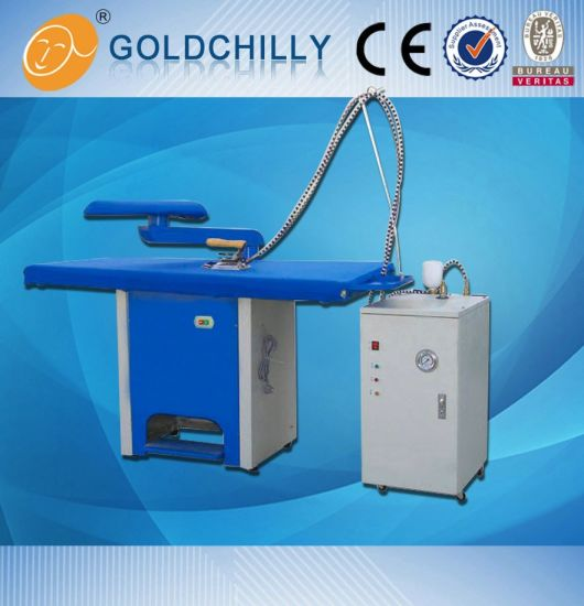 Hot Sell Vacuum Ironing Table with Iron, Steam Boilor
