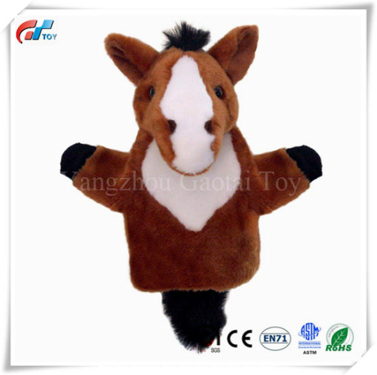 China Factory Brown Horse Hand Puppet pictures & photos