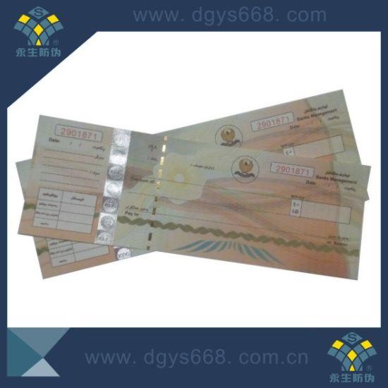 Watermark Paper Ticket Security Printing