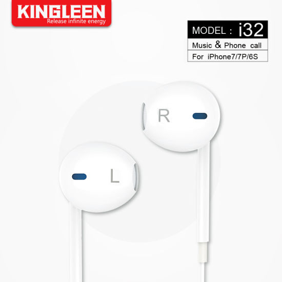 China Lightning Earphones, Headphone with Microphone and