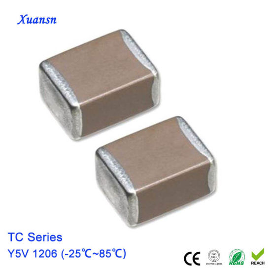 China 47nf 50v Y5v 1206 Multi Layer Chip Ceramic Capacitor