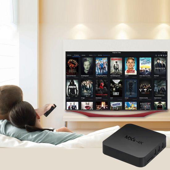 China Kodi 17 3 Mxq-4K Android TV Box Amlogic S805 1GB RAM