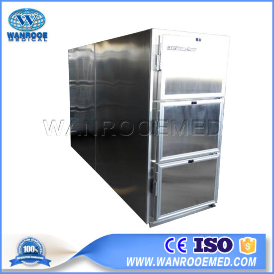 Ga303 Mortuary Equipment Side Loading Morgue Refrigerator with Control Panel