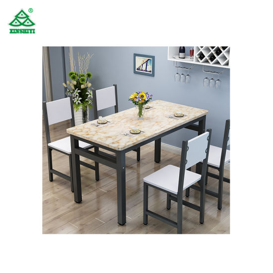 Marble Top Dining Table Round Rotating Sets