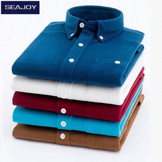 Casual Men Dress Shirts Customize Corduroy Polo Shirts for Men