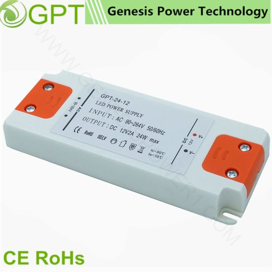 China 24W 12V CCTV Switching Mode DC LED Transformer Driver Power