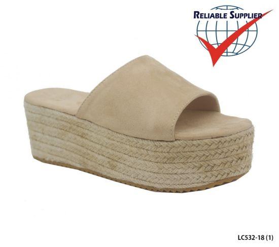 Fashion Women's High Platform Slippers Flat Wedge Sandals Heels Shoes