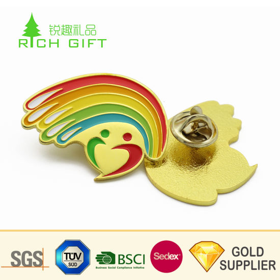 Wholesale Alibaba Custom Metal Zinc Alloy 2D Gold Plated Lapel Pins Flower  Men for Wedding Gifts