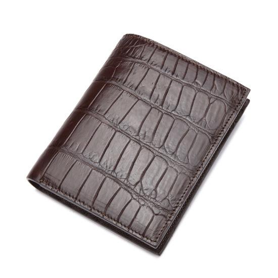 Men Genuine Crocodile Leather Wallets Card Pocket Wallet