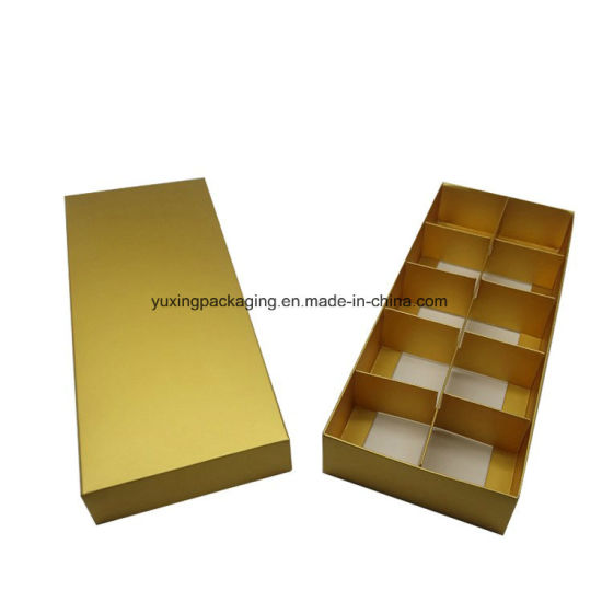 High End Folding Customized Golden Chocolate Paper Box