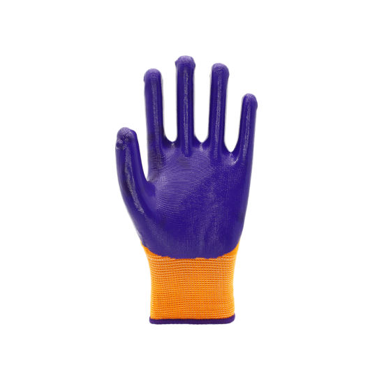 High Quality Construction Indsutrial Use Safety Poly Liner Nitrile Coating Gloves
