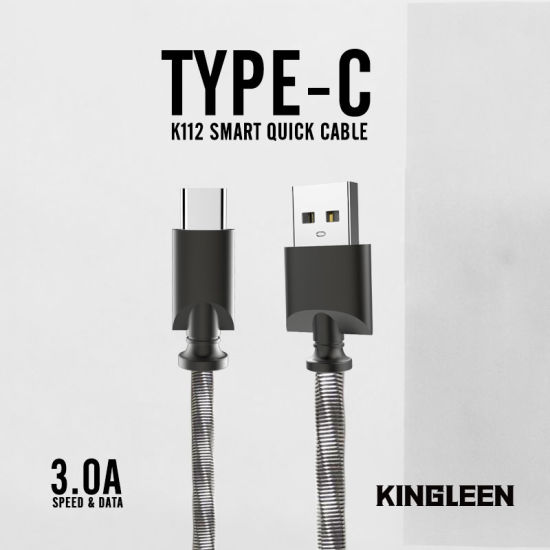 china metal braided usb type c charger cable power sync wire 3ft rh kingleen en made in china com