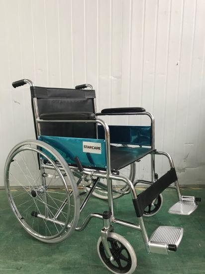 Chromed Folding T Aluminum light Weight Frame Manual Wheelchair