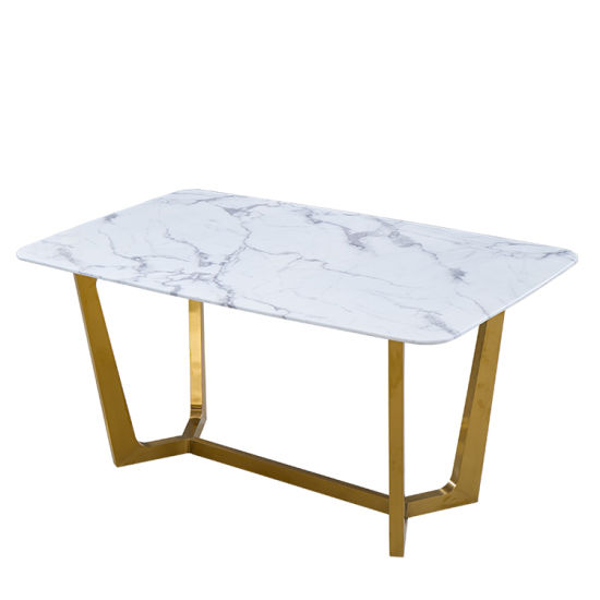 Modern Large Granite Artificial Marble Dining Table