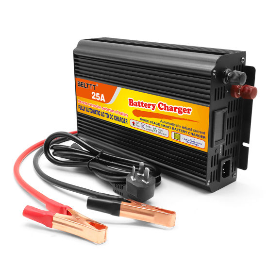 Intelligent Control and Management Digital Current Display 24V 25A Car Battery Charger