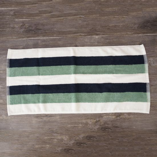 Comfortable White 100% Cotton Colorful Stripe Hand Towel Gift Ideas