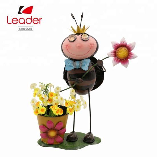 Factory Wholesale Garden Decorative Metal Animal Iron Insect Flower Pot Ladybird Garden Planter