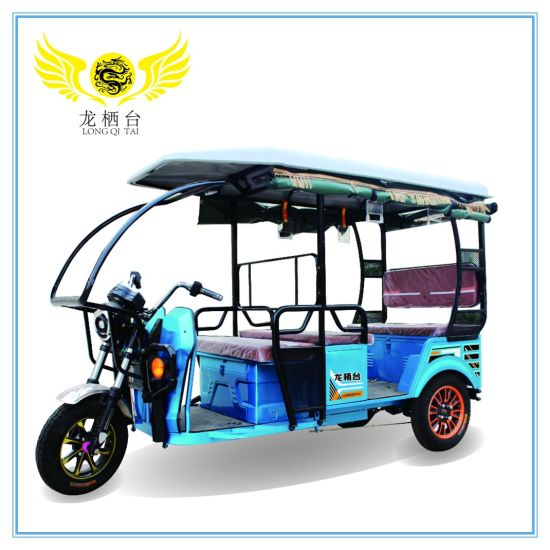 3 Wheels 6 Passengers Electric Tricycle for India