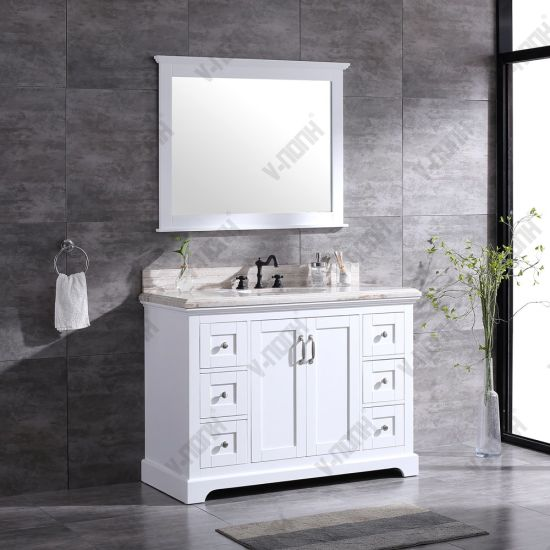 China Modern 48inch White Floor Mounted, What Size Mirror Goes With A 48 Inch Vanity