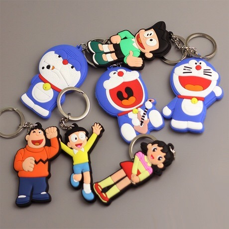 Customized 3D Cartoon PVC Soft Rubber Plastic Keychain