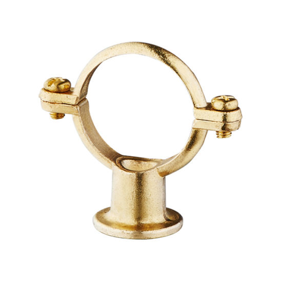 Pipe Clips Natural Brass or Chrome Plated Die-Casting Brass Dual Porpose