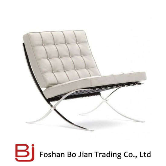 High Quality Modern China Leather Sofa Chair with Stainless Steel