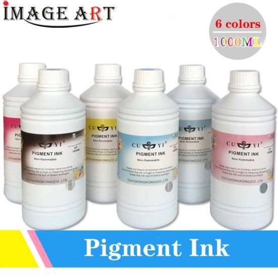 Cuyi Pigment Ink 1 Liter/Bottle Bright Colors