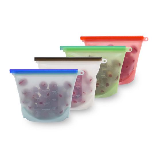 Kitchenware Reusable Zip Lock Silicone Storage Food Bag for Fruits Vegetables
