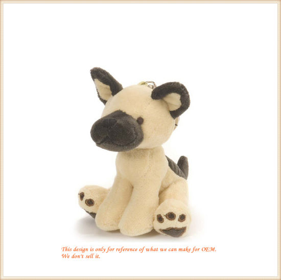 Standing Yellow Dog Key Finder Stuffed Toys OEM/ODM