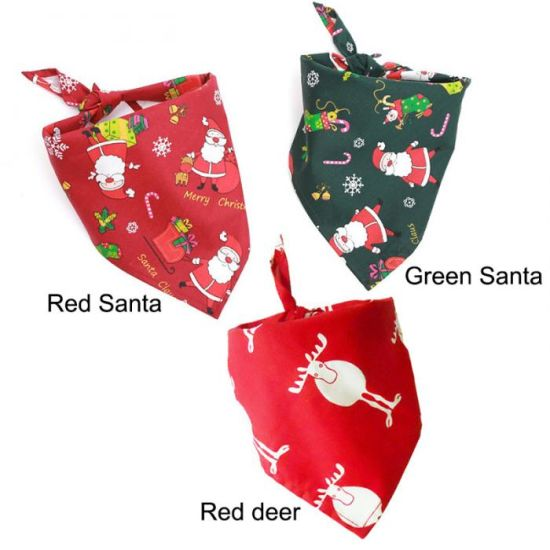 Christmas Pet Dog Bandana Small Large Dog Bibs Towel Scarf Halloween Pumpkin Printing Puppy Pet Grooming Costume Accessories pictures & photos