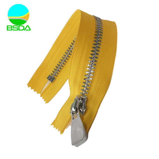 High Quality Hot Sale Durable Y Teeth Stainless Steel Metal Zipper for Garment